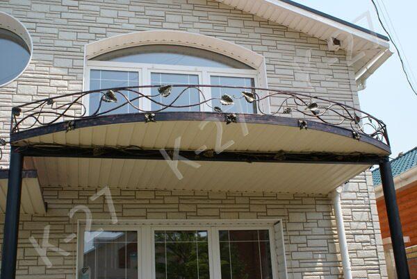 Декор козырька балконы.